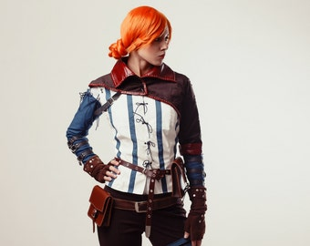 Triss Merigold cosplay costume, The Witcher, witch from the witcher 2, Halloween costume, sorceress, charmer, adult, halloween costume