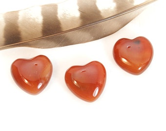CARNELIAN Heart Stone | Carnelian Crystal Heart | Remembrance Gift, Recovery Gift, Wedding Favor, Chakra Energy Healing Stone | Orange Heart