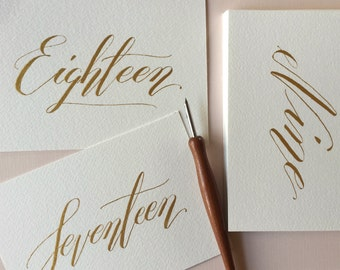 Gold calligraphy etsy