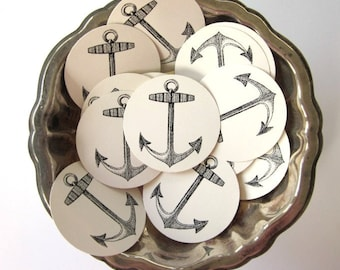 Anchor Tags Round Gift Tags Set of 10
