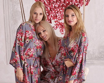 SALE! Bridesmaid Robes -Robes for Bridesmaids- Bridesmaids Robes -Cotton Bridesmaids Robes - Kimono Bridesmaids Robes - Bridesmaid Gift