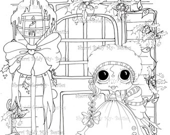 INSTANT DOWNLOAD Digi Stamps Big Eye Big Head Dolls Digi Bestie IMG962 By Sherri Baldy