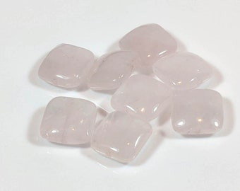 Rose Quartz Gemstone Beads, Pink Smooth Puffed Rose Quartz Pillows, Jewelry Making, beading, Bracelet making