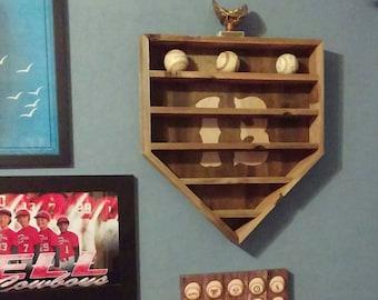 Rustic BASEBALL Display Rack