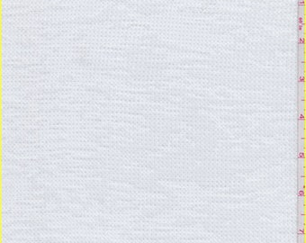 White Thermal T Shirt Knit, Fabric By The Yard