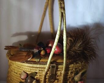 """Vintage handbag """"Sublime automne"""""""