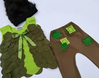 Branch Trolls costume Birthday party Branch Trolls Christmas Costume Smidge and Branch  Branch dress up Halloween costume