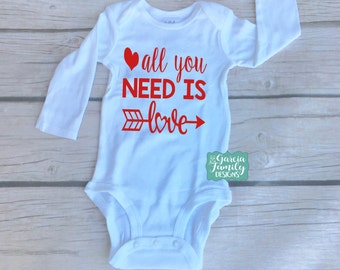 All You Need Is Love, Made With Love, Valentines Day Baby, Babies First Valentines Day, VDay Baby, Baby Valentines, Valentines Day