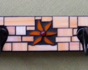 Mosaic Glass Coat Rack