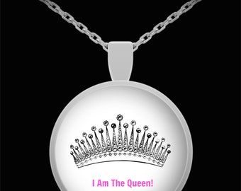 I Am The Queen Coffee Necklace