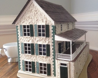 Miniature Charleston Single House - O scale &  1/4 scale-CIRCA 1866 South Carolina/model railroad/miniature collectible/tabletop display