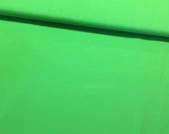Green 100% cotton jersey fabric