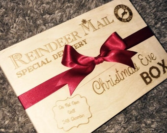 Christmas eve box wooden
