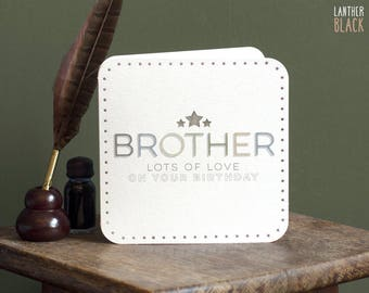 Brother card / Brother birthday card / Bro birthday / Card for brother / Siblings day / MT12