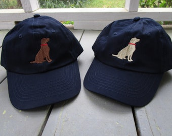 Childs Embroidered Labrador Dog Hat with Optional Personalization