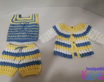 Crochet Baby Set Of 3 (New)