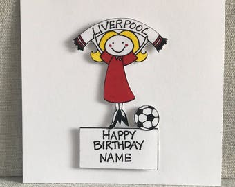 Liverpool fc cards etsy liverpool personalised football cards for womenladiesgirlsliverpool fcfootball card bookmarktalkfo Choice Image