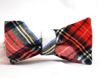 "The ""Scottish Tartan"" Self Tie Bow Tie"