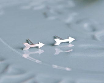 Sterling Silver Arrow Earrings | Stud Earrings | Silver Earrings | Arrow Jewelry | Minimalist | Handmade Jewellery | Tribal earrings