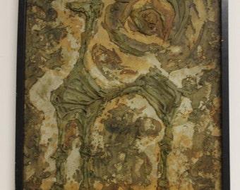 Original Luzon Impasto Oil Painiting On Canvas Signed