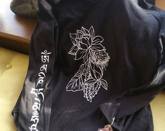 Three Stages of the Lotus Silkscreened Shirt