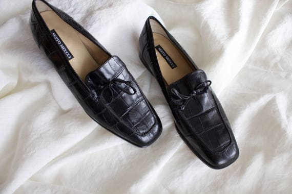 Black Italian Leather Loafers