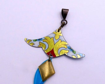 Pendant for creating - recycled Tin