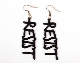 3D Printed Resist Earrings