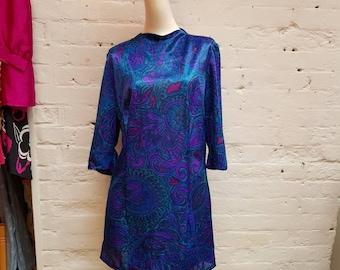 1960s handmade mini shift dress. UK size 14