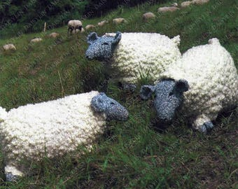 PDF Instant Digital Download knitted sheep unusual knitting pattern (260)