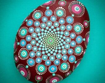 Sacred Mandala Stone 'Birthing Creativity'