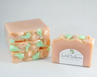 Sweet Satsuma | Handcrafted Artisan Soap | Mandarin Orange |  Palm Free | Cold Process | Luxury Soap | Gift for Her | Christmas Gift