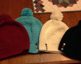 Womens Crochet Slouch Hat