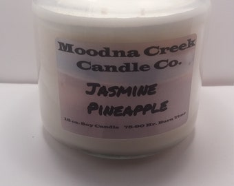 Jasmine and Pineapple 16oz Soy Candle