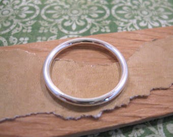 Small Open Frame Hoop in Antique Silver by Nunn Design