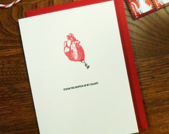 letterpress from the bottom of my heart greeting card pack of 6 perfect for thank you, sympathy, love