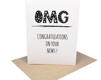 Congratulations Card - OMG Congratulations on your News - CON009