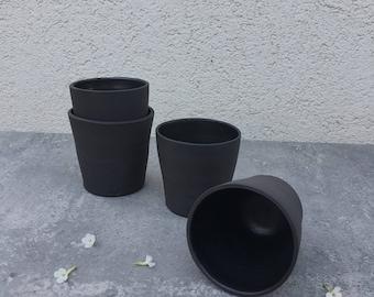 ceramic espresso cup set, black tea cup, modern espresso cup, ceramic tumbler, housewarming gift