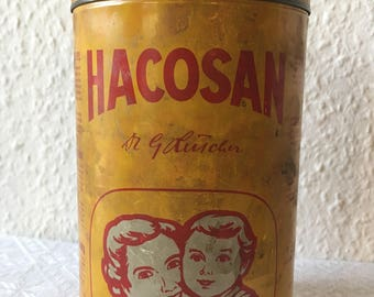 Swiss Vintage  Hacosan Tin Jar