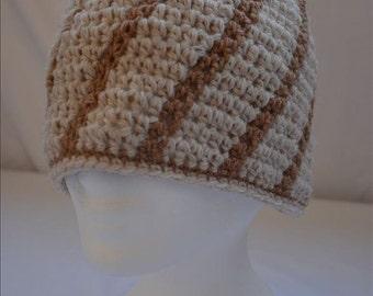 """Crochet beret """"Spider"""" in beige / Brown"""