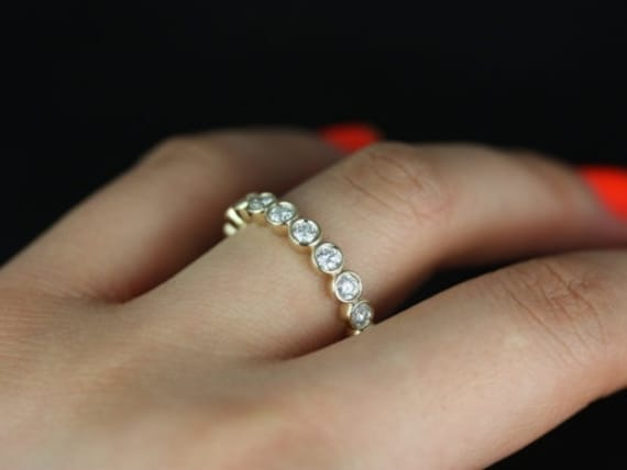 white wedding diamond bridal fancy canary bands eternity gold carat ring yellow band