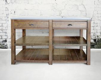 Kitchen Island, Table, Reclaimed Wood, Handmade, Rustic