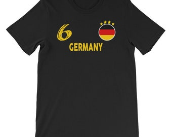 GERMANY T-SHIRT FOOTBALL WORLD CUP 2018 RUSSIA DEUTSCHLAND SUPPORTERS 100/%COTTON