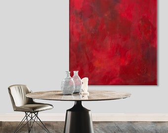 Abstract red painting red abstract art Abstract painting Large original painting on canvas Abstract art red Canvas art Minimalist art Modern