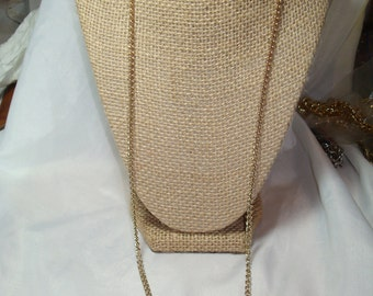 1980s Long Slinky 30 Inch Gold Tone Chain.