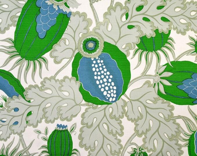 Designer Geometric Pillow - Carnival Outdoor Fabric in Verde - Christopher Farr Cloth - Designer Blue Green Linen Pillow Cover
