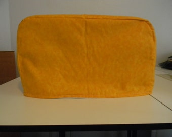 Toaster Oven Cover - Yellow gold tone on tone