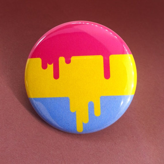 Button -  Pansexual LGBT Queer Pride Flag!