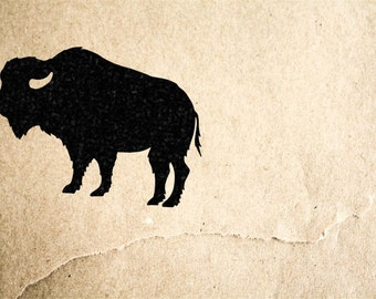 Bison Stamp ( 2 x 2 Inches ) - Southern Rubber Stamp