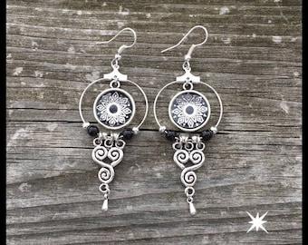 Earrings silver filigree earrings